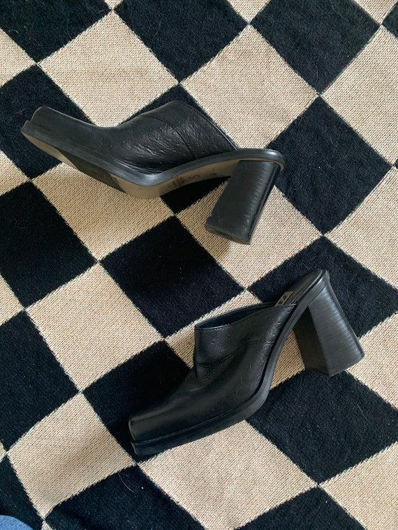 90's Leather Mules - image 3