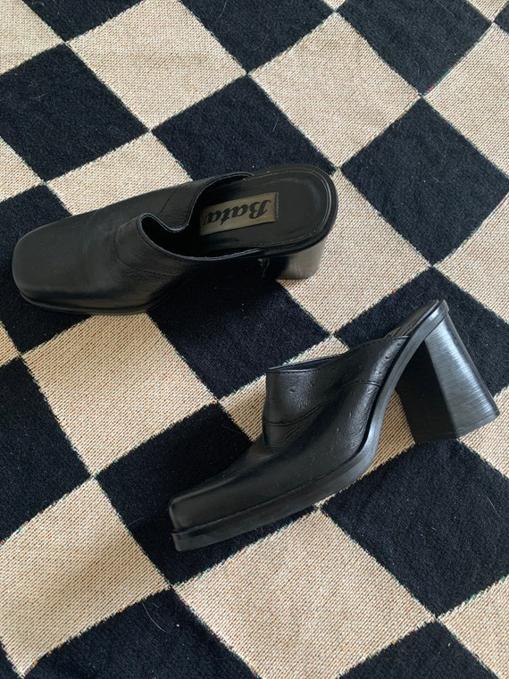 90's Leather Mules - image 1