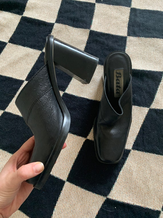 90's Leather Mules - image 2