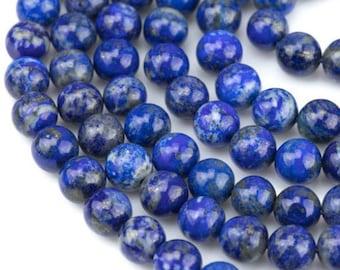 Natural Lapis Lazuli Gemstone Round Beads 2mm 3mm 4mm 6mm 8mm 10mm 12mm 15.5''