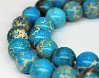 6mm Natural Regalite//Imperial//Sea Sediment Jasper Light Blue