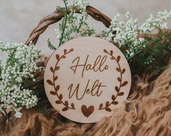 Milestone Hello World Gift Tags, Birth, Offspring, Welcome - 000064