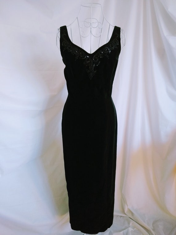 Vintage Laura Ashley velvet dress