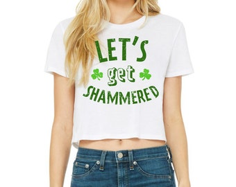 St Patrick/'s Day Attire  Gift For Her Patrick/' Day Graphics  St Patrick/'s Day Crop Top  Shamrock Crop Top  St