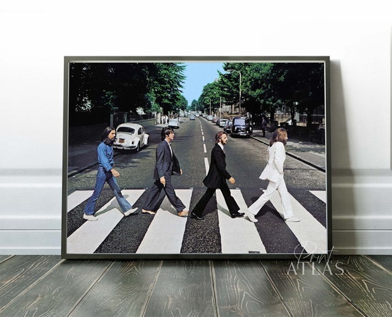 Shop The Beatles Print Premium Poster   Abbey Road 1969  Premium from Etsy on Openhaus