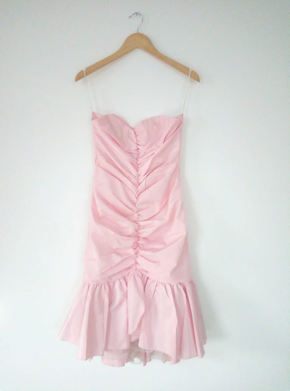 Vintage pleated Bustier dress