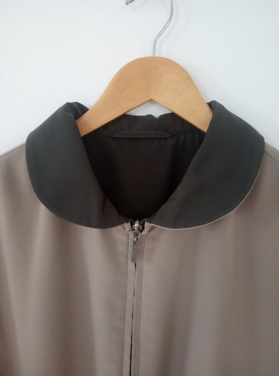 Reversible peter pan collar jacket