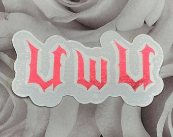 UwU Kawaii Decal, Weeb Vinyl sticker, Japanese Anime UwU, Pastel Goth Gift, Goth UwU sticker decal, car decal, laptop decal, window decal