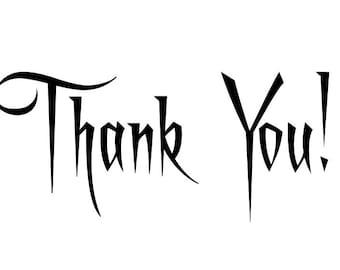 Thank you card, Printable card, Digital card,