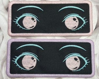 Anime Eyes Patch, Iron On patches, Anime gifts, Weeb gifts, Anime patches, Embroidered patch, Anime girl, stocking stuffers, Kawaii gifts