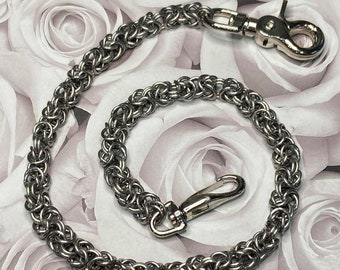"""Chainmail Wallet chain, Men's chain, 24"""" chain, Stainless Steel Jewelry, Men's gifts, Wallet Chain, 25 Years of experience"""