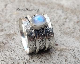 Genuine RARE Larimar Citrine Gemstone Handmade 925 Sterling Silver Plated Antique Style Ring Jewelry USA 555