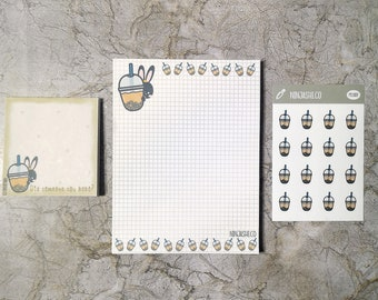 office supplies cute kawaii stationery notepad bujo Onigiri journal stationery notes writing supplies memo pad paper