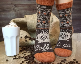 Socken-Strickanleitung / COFFEE-TO-GO-Socks Pattern / Socken stricken / knitting pattern / Strickanleitung Socken