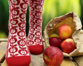 Socken-Strickanleitung / Sweet-Apple-Socks Pattern / Socken stricken / knitting pattern / Strickanleitung Socken / Socks pattern