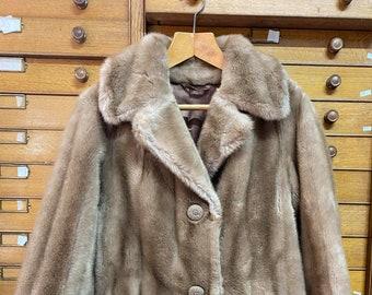 Vintage 1980s Womens Tissavel Of France Faux Fake Fur Coat / Jacket. Size UK 12.