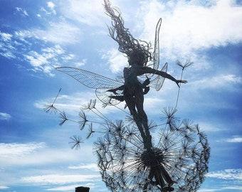 8.25 Jewelled Fairy Petalite Statue Sculpture Fantasy Home Decor