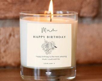 Mum Happy Birthday Gift, Personalised Birthday Candle For Mum, Unusual Birthday Gift For Mum, Mam gift, Mummy Present