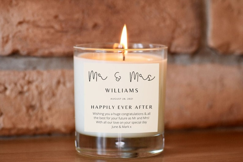 Mr & Mrs Personalised Candle