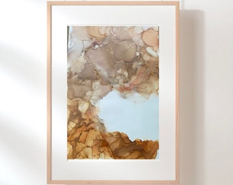 Original Work Alcohol Ink Painting/ Abstract Ink Painting / Neutral Painting/ 24x36/ Original Abstract Art/ Original Alcohol Ink Painting