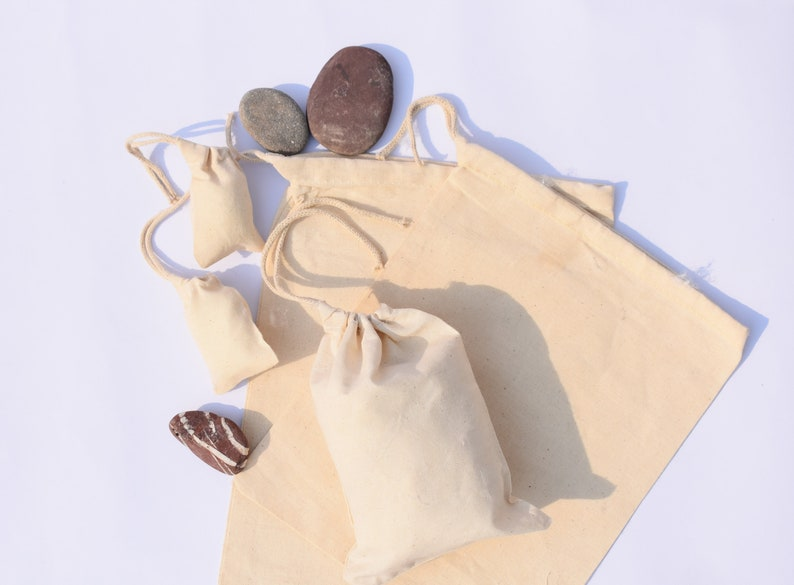 Available in Pack of 25 Jewellery Storage Bags 50 and 70 12x16 Inches Organic Cotton Reusable Single Drawstring Eco Muslin Bags