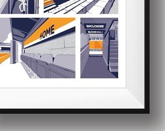 Luton Stadium Comic Print