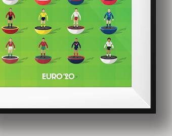 Euro 2020 Subbuteo Print