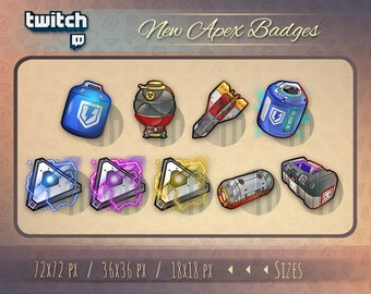 Twitch badges // Cute chibi badges for streamers / Apex Legends /