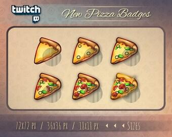 Pizza badges / Twitch bit badge / Twitch badges / Pizza Twitch badges / Sub Cheer Bit Stream sub badges