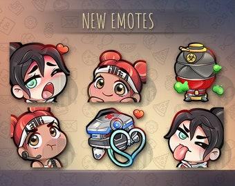 Twitch emotes // Cute chibi emotes for streamers / Apex Legends /