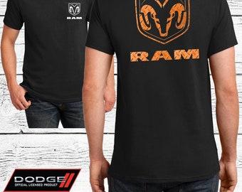 Dodge Ram Orange Logo - Dodge Ram Big Horn Official Licensed Product - Unisex Adult T-Shirt