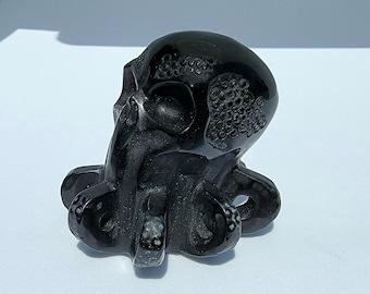 2.0 Inch Obsidian Octopus Crystal Skull