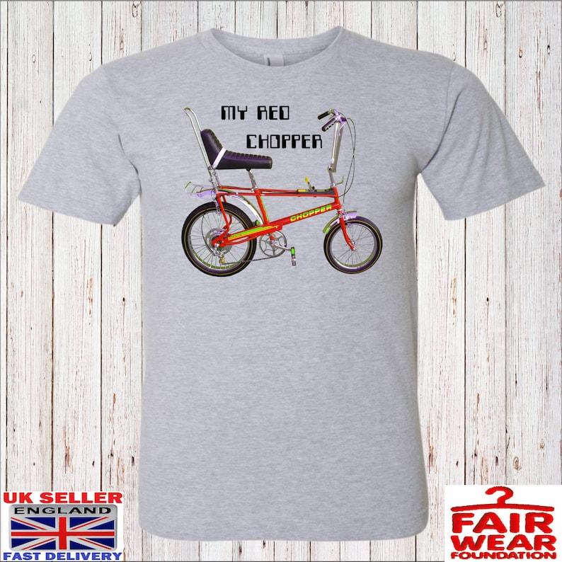 Men's My Red Chopper T-shirt, S to 2XL