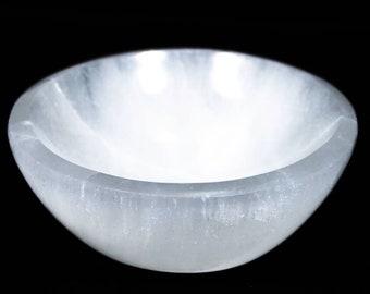 Selenite Crystal Charging Bowl, Gemstone Charging Bowl, Crystal Charging Bowl