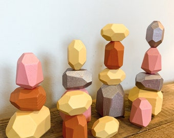 Educational pink stacking stones/ gems