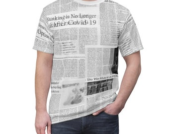 Vintage Newspaper shirts Size XL Free Shipping
