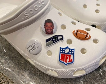 5 Seattle Seahawks Charms for Crocs
