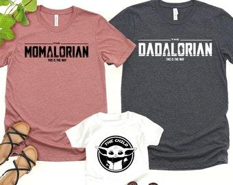 Mamalorian Dadalorian The Child Matching Shirts, Mommy Daddy Son Shirts, Matching Shirts, Vacation Shirts, Dad Gift, Mom Gift, Gift for Him