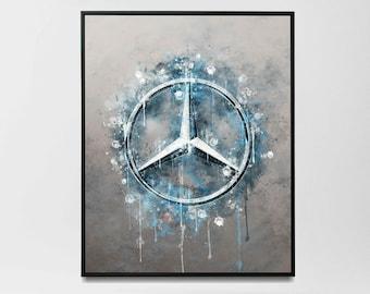 Mercedes - Wall Art Print | Canvas | Photo Block (Mercedes-Benz)