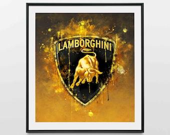 Lamborghini - Wall Art Print | Canvas | Photo Block
