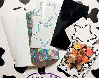 Holographic/Glossy Polco | Toploader Star Chain Stickers