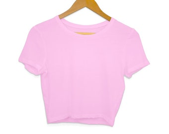 Hexxie Violet Totally Winging It Blush Pink Crop Top