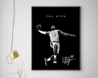 NBA Lebron James Lakers Poster, Sport Poster