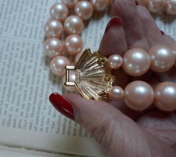 Vintage Richelieu Faux Pearl Choker Necklace - image 7