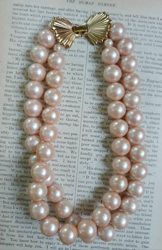 Vintage Richelieu Faux Pearl Choker Necklace - image 5