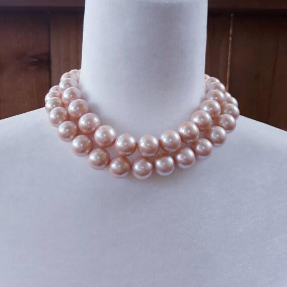 Vintage Richelieu Faux Pearl Choker Necklace - image 1