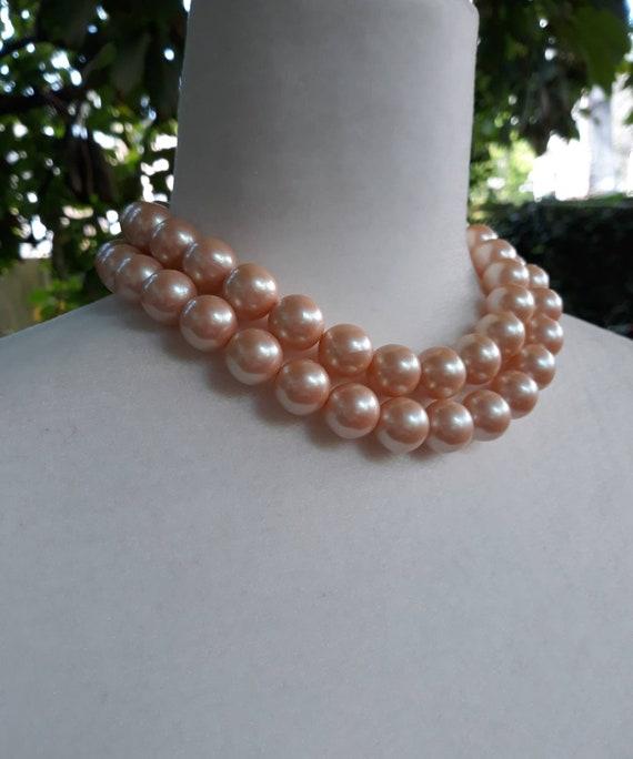 Vintage Richelieu Faux Pearl Choker Necklace - image 4