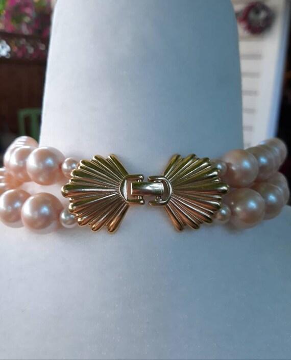 Vintage Richelieu Faux Pearl Choker Necklace - image 3