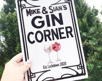 Gin Gift Mini Wooden Gin Sign WS762