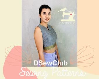 Saree-blouse-sewing-pattern-SB04